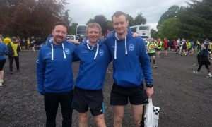 Maryhill Harriers at start of Sirling Marathon